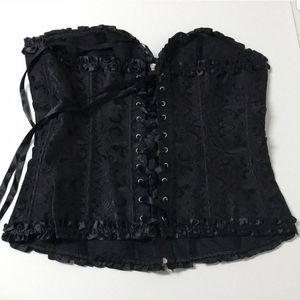 Adore Me size 14-16 black corset ❤🖤